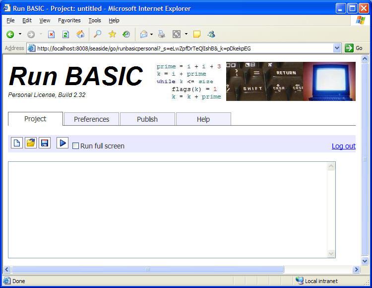 Using Run BASIC Personal